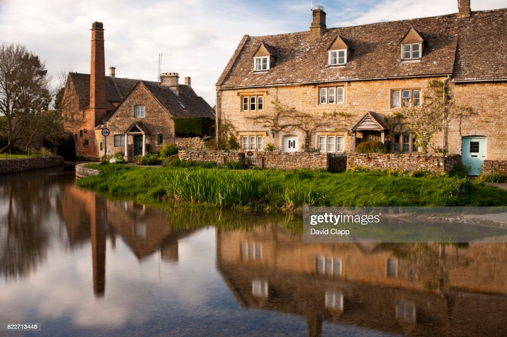 Lower Slaughter, Cotswolds, Gloucestershire : Stock Photo