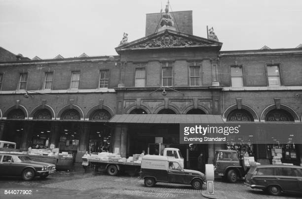 Lower Thames Street side view of the Old Billingsgate Market London UK 14th April 1978
