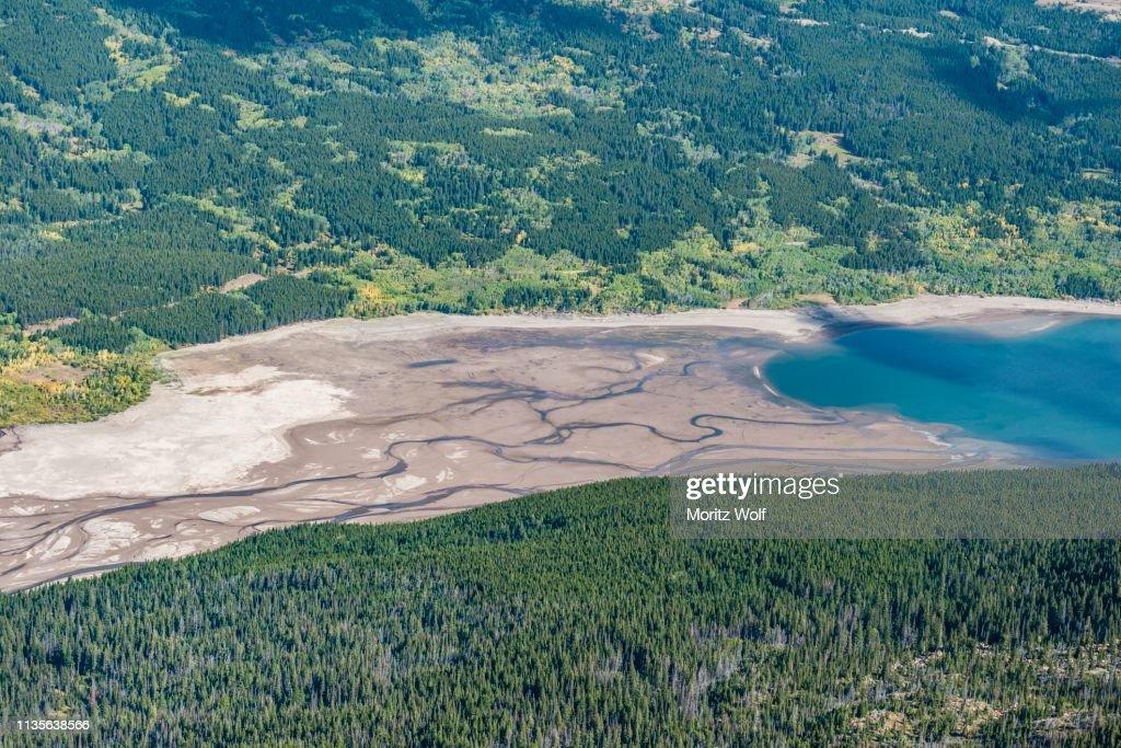 Lower Two Medicine Lake, Sinopah Mountain, Glacier National Park, Montana, USA : Stock Photo
