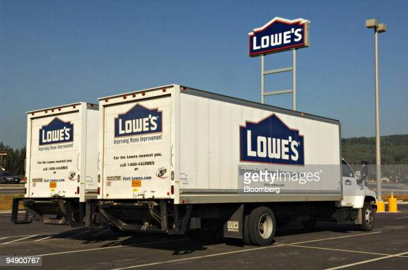 Lowe S Delivery Trucks Are Pictured Outside A In Fairbanks News Photo Getty Images