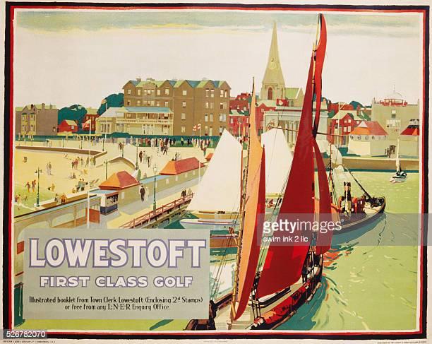 Lowestoft First Class Golf Poster
