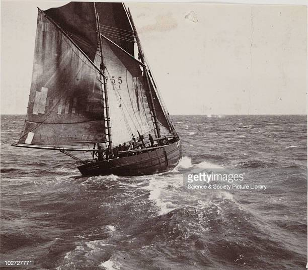 Lowestoft fishing boat at sea early 20th century Photograph by Frank Meadow Sutcliffe