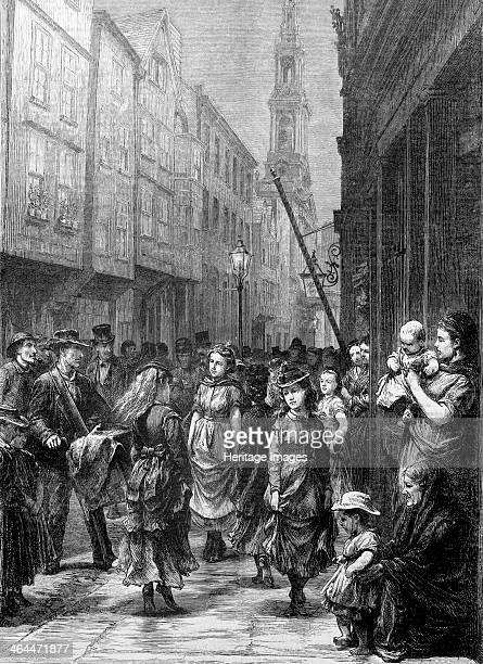 Lowlife girls dancing for trade Drury Lane City of Westminster London c1852c1883