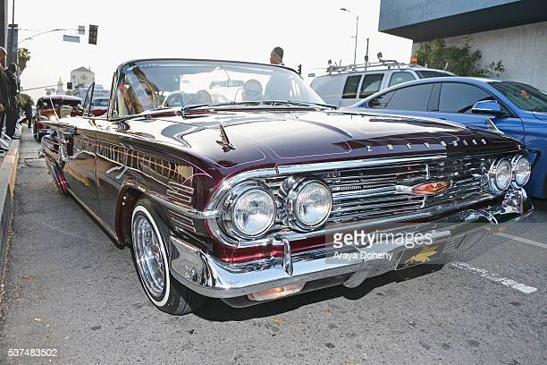 A lowrider automobile is displayed at the premiere of Lowriders during opening night of the 2016 Los Angeles Film Festival at ArcLight Cinemas'...