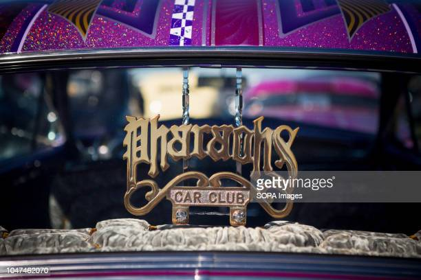A lowrider car detail seen being displayed at tokoname in Japan in a vehicle belonging to one of Japan's oldest lowrider clubs Pharaohs