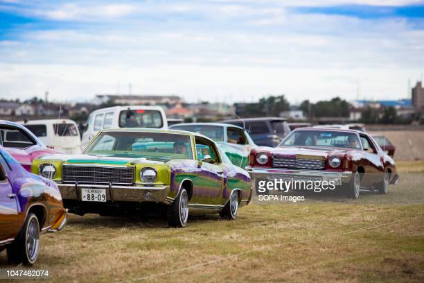 Lowrider cars seen being displayed at tokoname in Japan They are customized vehicles belonging to one of Japan's oldest lowrider clubs Pharaohs