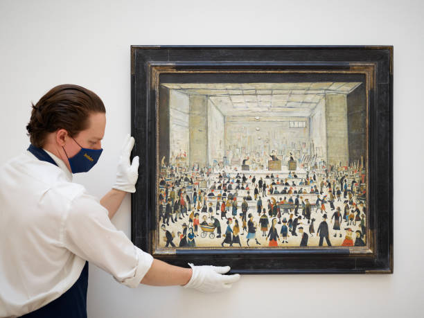 GBR: Sotheby's London Unveils L.S Lowry's Only Painting of an Auction Scene