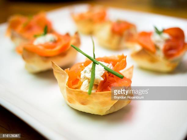 Lox with chive, horseradish, and marscapone