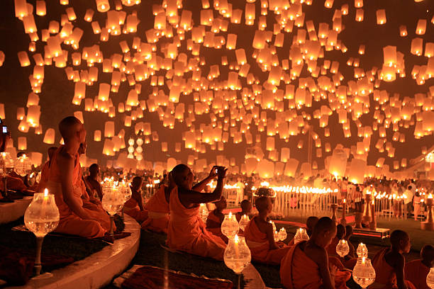 Loy Kratong - Floating Lantern Festival 1 Wall Art