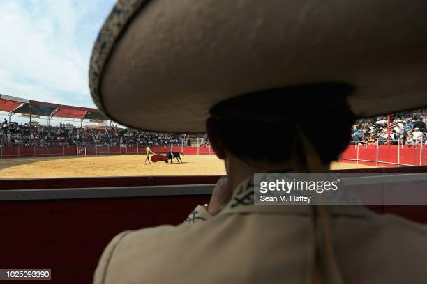 Loyal fans of the diminishing tradition of bullfighting watch an afternoon bullfight at Caliente Plaza de Toros on July 8 2018 in Tijuana Mexico...