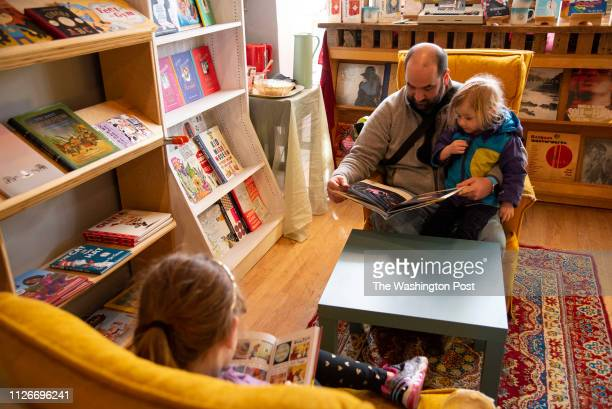 Loyalty Books an independent bookstore that just opened in Petworth is photographed in Washington DC on February 16 2019 Here Clint Key and his...