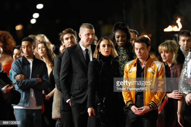 Loyle Carner Robert Konjic Professor Green Leomie Anderson Charlie Heaton and Natalia Dyer attend The Fashion Awards 2017 in partnership with...