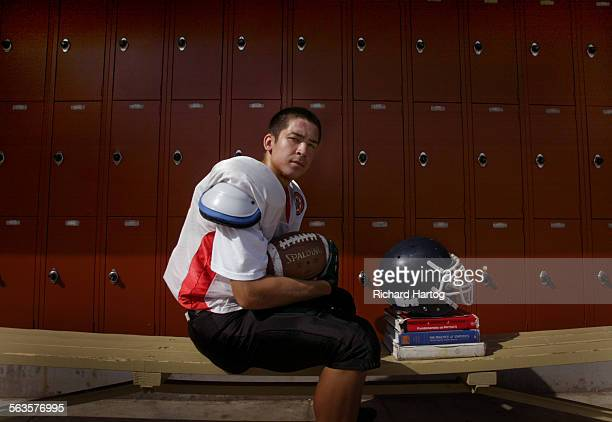 Loyola High receiver Matt Appenfelder on campus Tuesday afternoon in LA Story is on football players with academic and athletic excellence...
