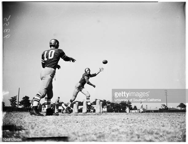Loyola Marymount University Football 20 September 1951 Don KlostermanFred SnyderLou MascolaLos Angeles California USA