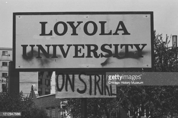 Loyola University students on strike following the Kent State University shootings, Chicago, Illinois, May 6, 1970.