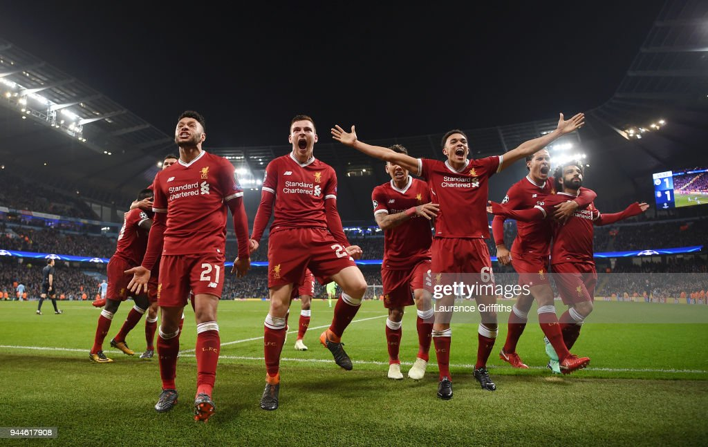 Manchester City v Liverpool - UEFA Champions League Quarter Final Second Leg : News Photo