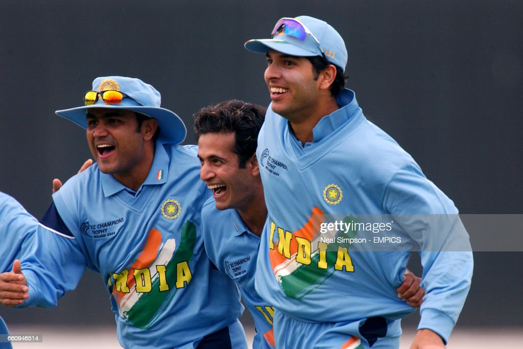 L R Indias Virender Sehwag Irfan Pathan And Yuvraj Singh