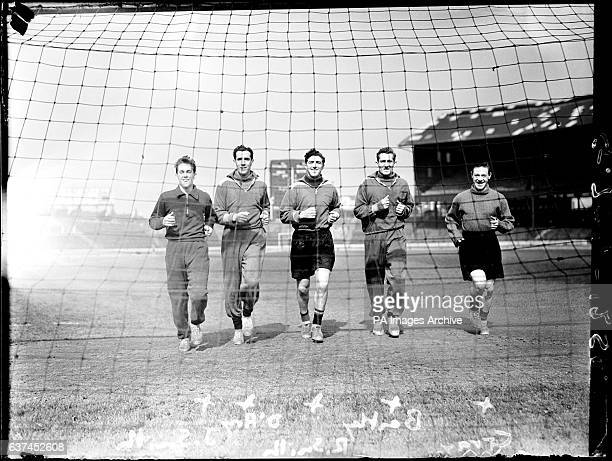 lr James Smith Seamus D'Arcy Robert Smith Roy Bentley and Billy Gray during Chelsea Training