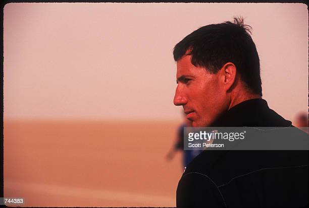 Lt Andy Green prepares to take off November 16 1996 on the AlJafr desert in Jordan Green will attempt to break the speed of sound without leaving the...
