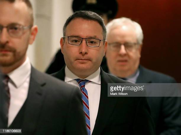 Lt Col Alexander Vindman director for European Affairs at the National Security Council arrives at the US Capitol on November 7 2019 in Washington DC...