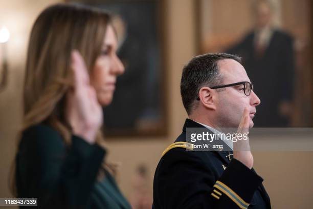 Lt Col Alexander Vindman director of European affairs at the National Security Council and Jennifer Williams an aide to Vice President Mike Pence are...
