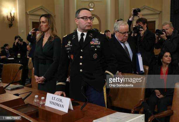Lt Col Alexander Vindman National Security Council Director for European Affairs and Jennifer Williams adviser to Vice President Mike Pence for...