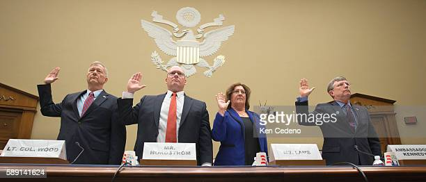 Lt Col Andrew Wood of the Utah National Guard Eric Nordstrom Regional Security Officer at the US Department of State Charlene R Lamb Deputy Assistant...