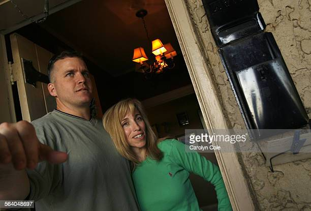 Lt. Col. Mark Stock, battalion commander of the 2nd Battalion, 504th Parachute Infantry Regiment, 82nd Airborne Division, left, with is wife Liz, at...