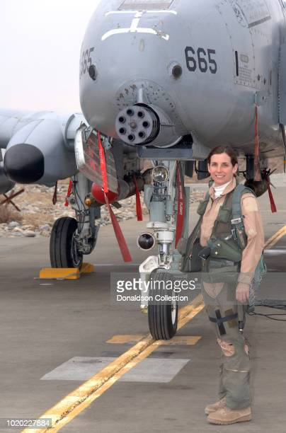 Lt Col Martha McSally stands with her A10 Thunderbolt II aircraft The colonel is the first female pilot in the Air Force to fly in combat and to...