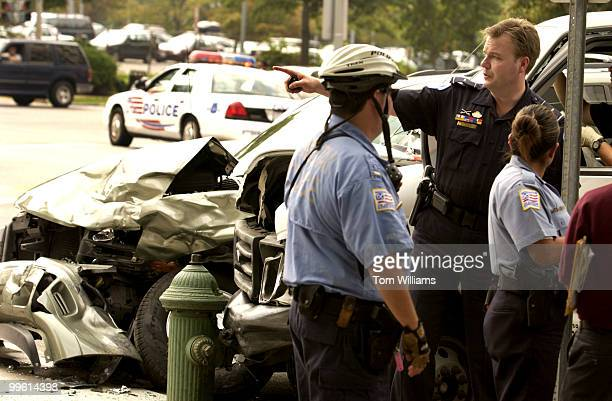 Lt Dan Nichols of the Capitol Police appears at an incident in which a stolen truck crashed at North Capitol and Massachusetts Ave and the suspect...