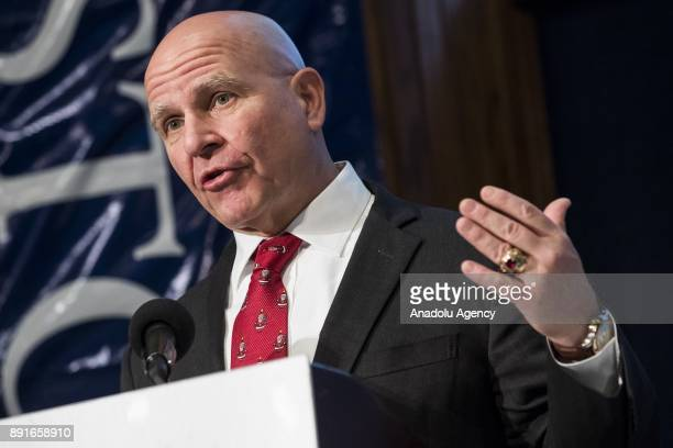 Lt Gen Herbert Raymond McMaster National Security Advisor to President Trump speaks at the Jamestown Foundation's 11th annual Terrorism Conference at...
