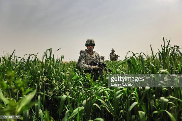 Lt Gen John W Nicholson Jr the Deputy Commander of all forces in Southern Afghanistan at the time holds a position moments before a Taliban ambush...