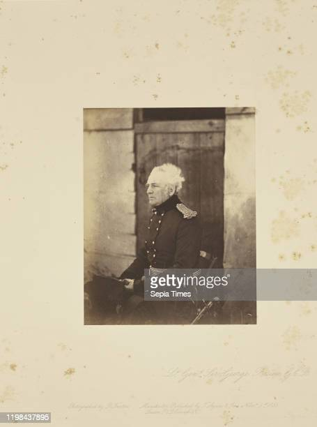 Lt Gen Sir George Brown GCB Roger Fenton London England 1855 Salted paper print 171 x 135 cm