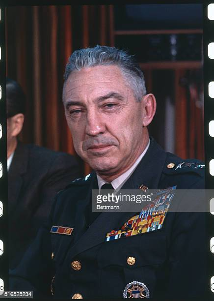 Lt Gen William Peers chairman of the Pentagon My Lai Investigation Board shown prior to 12/10 investigation into alleged massacre in My Lai Vietnam