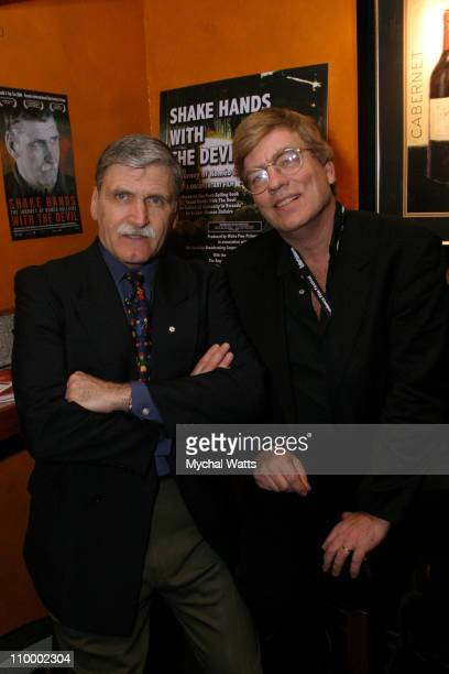 Lt General Romeo Dallaire and Peter Raymont producer and director of Shake Hands With The Devil