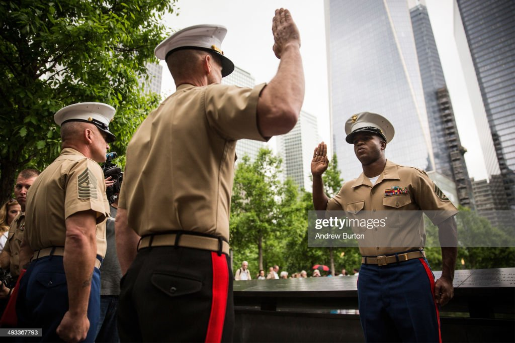 Reenlistment Ceremony For Service Members Held At Nat'l September 11 Memorial