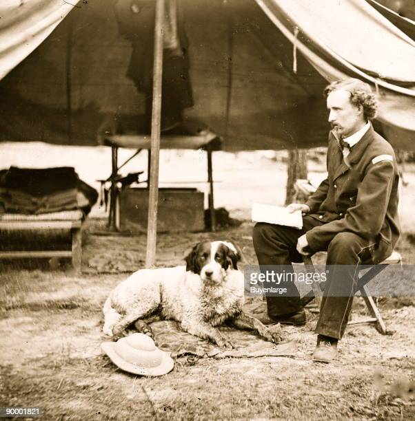 Lt George A Custer with dog