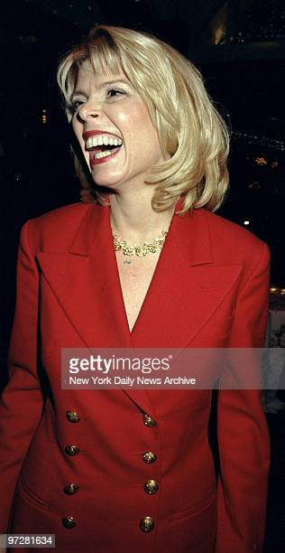 Lt Gov Betsy McCaughey Ross has a laugh at opening night party for the Broadway play Side Man at Tavern on the Green