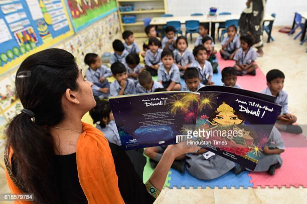 Lt Governor Najeeb Jung Inaugurates smart classrooms and library for the children's quality education at MCD Primary School Lajpat Nagar on October...
