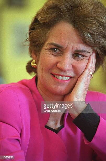 Lt Governor of Maryland Kathleen Kennedy Townsend sits in her office at the State House May 1 2002 in Annapolis MD Townsend is the first Kennedy...