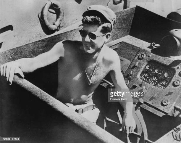 Lt John F Kennedy has His PT Boat Sliced in Two by Destroyer A condensation of Robert J Donovan's 'PT109' will run in 18 parts in The Denver Post