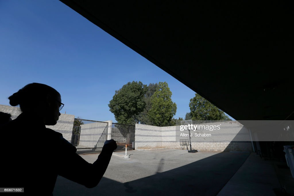 MONTEBELLO, CA -- WEDNESDAY, DEC. 14, 2016: Lt. Kelly Gordon, jail manager, gives a tour of the exercise yard, where pay-to-stay clients can recreate at the Montebello jail in Montebello Wednesday, Dec. 14, 2016.