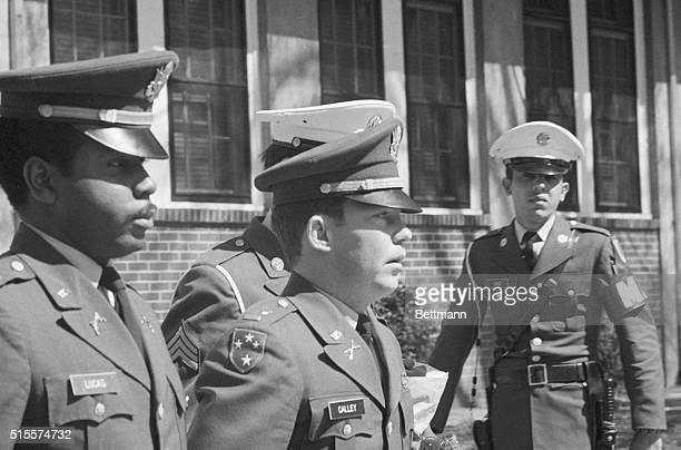 Lt William Calley is escorted to the Fort Benning stockade to begin his lifeterm in prison for his part in the My Lai massacre during the Vietnam War...