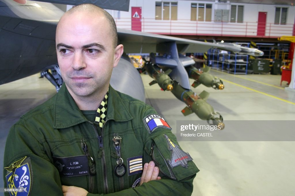 Lt -Col  Louis P?na is leading the French air force squadron of 3