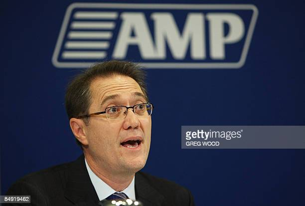 AMP Ltd Chief Executive Craig Dunn speaks at the company fullyear results announcement in Sydney on February 19 2009 AMP Ltd said February 19 that...