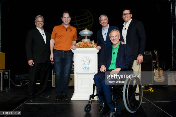 LtoR Austin Mayor Steve Adler CEO of Dell Technologies Michael Dell PGA TOUR Commissioner Jay Monahan Texas Governor Greg Abbott and Executive...