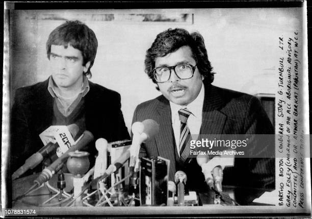 Gary Foley and Dr Anwar Barkat at WCC Press Conference today July 1 1981
