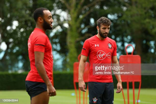 Yan Valery during a Southampton FC training session at Staplewood Complex on July 17 2018 in Southampton England