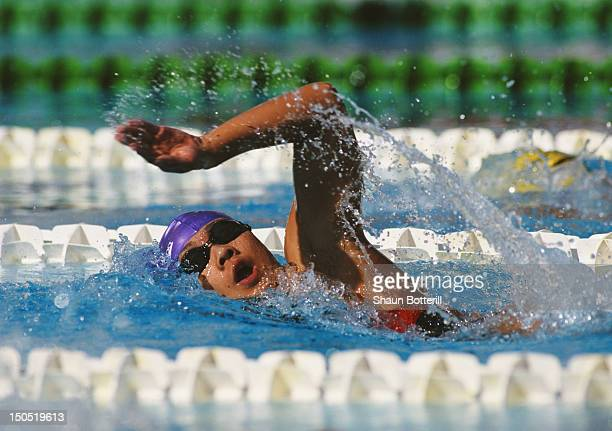 Lu Bin of China during the Women's 200 metres Freestyle on 6th September 1994 at the VII FINA World Aquatics Championships at the Foro Italico in...