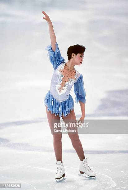 Lu Chen of China competes in the Technical Program portion of the Women's Figure Skating singles competition of the 1994 Winter Olympic Games on...